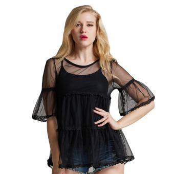 Fancyqube Sweet Lace Shirt Sleeve Sling (Black)