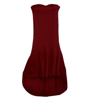 Women Off Shoulder Bodycon Floor Long Dress WineRed - intl