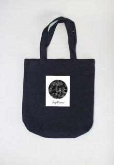 Túi Tote Nữ In Hình Sagittarius- Cung Hoàng Đaọ (Xanh Navy)