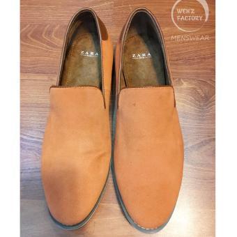 Giày mọi ZARA da lộn (Cam)