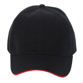 Unisex Plain Baseball Sport Cap Blank Curved Visor Hat (Black) - Intl