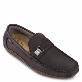 Giày Mọi Nam Da Bò SunPoLo LS2072N (Nâu nhạt)