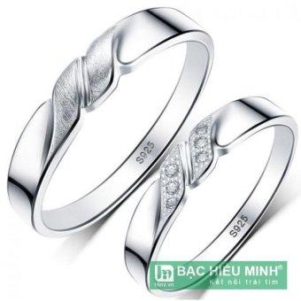 Nhẫn đôi Bạc Hiểu Minh nc091 luôn đi bên nhau