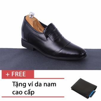 Giày tăng chiều cao nam SMARTMEN GL-10 (Đen) + Tặng 1 ví da nam