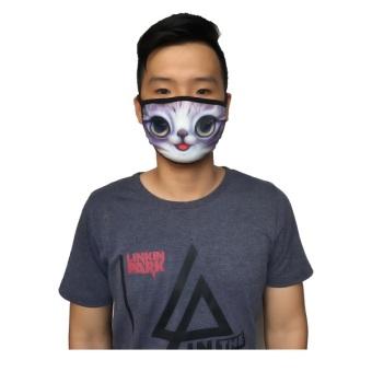 Khẩu Trang In Hình Thú 3D Cao Cấp ( Hình Mèo Tím)