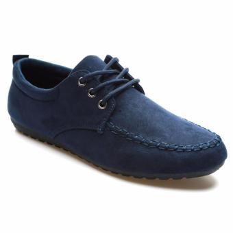 Giày lười nam cột dây thời trang HNP GN057 (xanh đen)