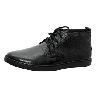 Giày nam da bò thật cao cấp Đen ESM06