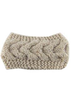 Lalang Knitting Needle Hairband Beige