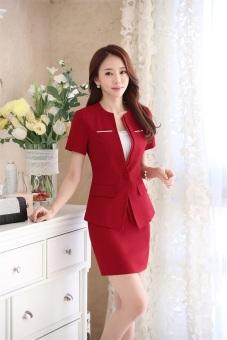 Bộ vest nữ và chân váy công sở DXXZ8119-1 (Đỏ)