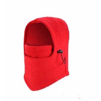 Mũ Phượt Chùm Đầu 6 kiểu dáng (Đỏ)
