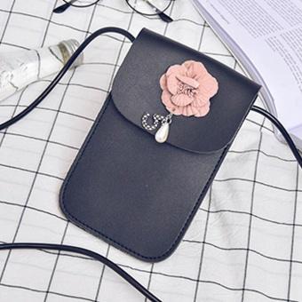 New Women Mini Cross Body Bag Mobile Phone Pouch Ladies Small Shoulder Bag BK - intl
