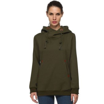 Cyber ACEVOG Women Long Sleeve Casual Hoodies (Amy Green) - Intl