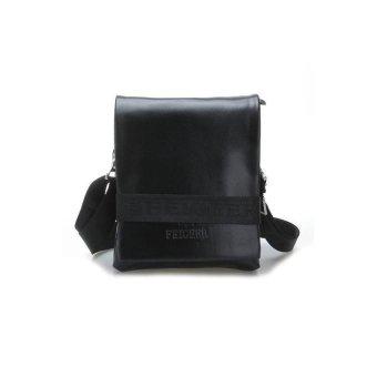 HKS Mens Bag Briefcase Shoulder Messenger Cross Body Faux Leather Business Black - intl