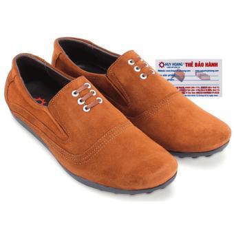 HL7196 - Giày mọi Huy Hoàng da lộn cột dây màu bò