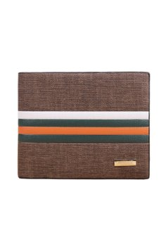 Business Striped Short Section Of High-quality Leather Men's Wallet Sets