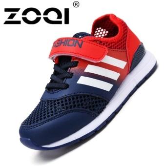 Boys Fashion Sneaker Sport Shoes Light Breathable Casualshoes (Dark Blue) - intl