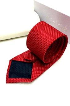 Cà vạt lụa thời trang bản vừa Victoria90 VT6009-2 (Đỏ)