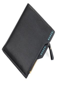 HKS Mens Faux Leather ID Credit Card Holder Clutch Bifold Coin Purse Wallet (Black) - intl