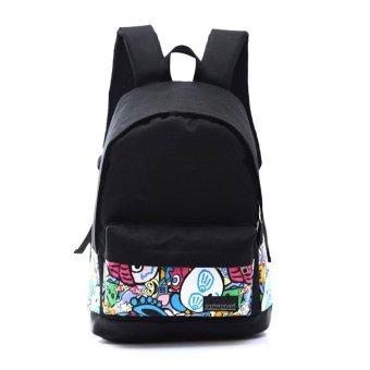 1PC Boys Girls Unisex Canvas Rucksack Backpack School Book Shoulder Bag - intl
