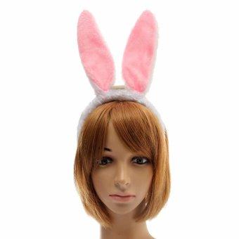 LED Cute Bunny Rabbit Ears Headband Hair Band Costume Halloween Party Dress Up - intl