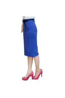 Moonar High Stretch Slim Dress (Blue) - intl