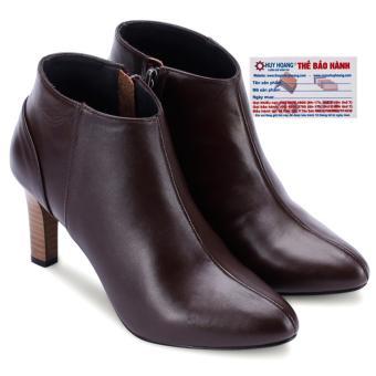 HL7038 - Giày bốt nữ Huy Hoàng da bò màu nâu