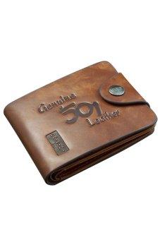Bluelans Men Faux Leather Bifold Wallet Card Holder Slim Coin Purse Pocket (Intl)
