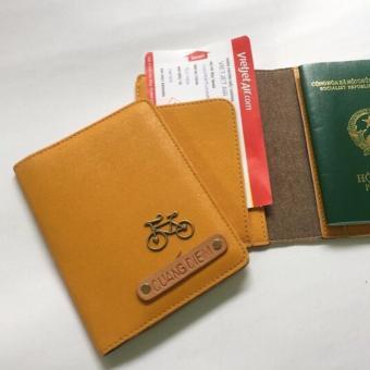 Bao Da Hộ Chiếu Passport Cover Abu90 PC05 (Vàng Cam)