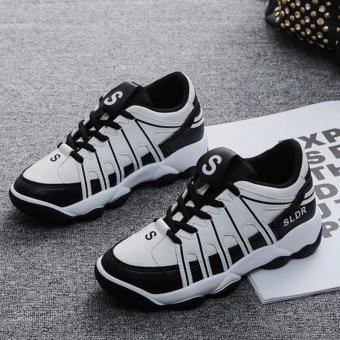 Giày Sneaker Nữ Sodoha SWG6532WB - Màu Trắng Đen