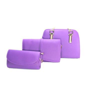 Bộ 3 túi ví nữ thời trang DaH2 CB0002 (Tím)