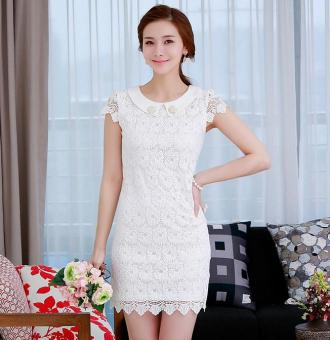 Đầm ren hoa màu trắng sang trọng | Đầm ren đẹp