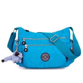niceEshop Waterproof Nylon Multi-pocket Women Messenger Bag (Sky Blue)