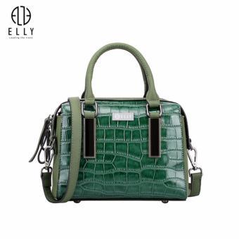 Túi xách nữ cao cấp da thật ELLY – ET29 màu xanh
