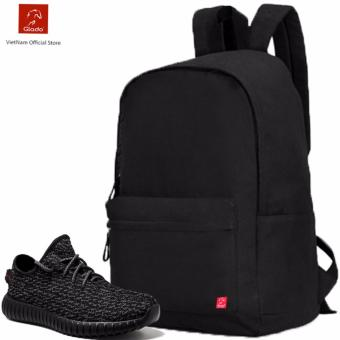 Combo Balo Cylinder Laptop BLL002BA + Giày Sneaker GS011BA (Đen) - CB023