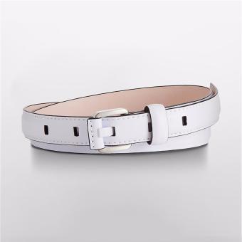 Thắt lưng nữ chính hãng Calvin Klein SQUARE BUCKLE SLIM LEATHER BELT - hàng nhập khẩu