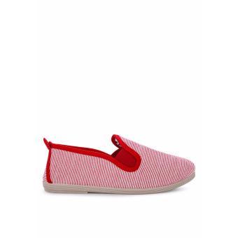 Giày Lười Flossy San Javier Red Stripe (Trắng Sọc Đỏ)