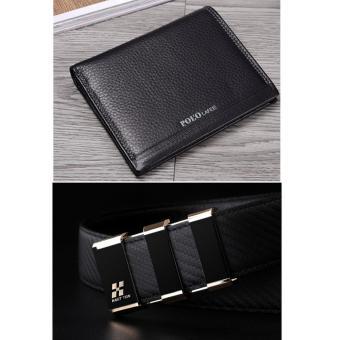 Bộ ví dài và thắt lưng da phong cách DT5410
