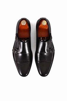 Giày tây Double Monkstrap Alessandro Luigi LG96-93 (Đen)