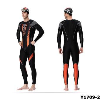 Áo bơi Yingfa Y1709-2 (đen cam)