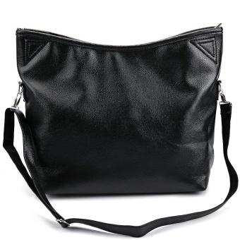 Women Vintage Style Leather Top Handle Cross Body Shoulder Bag (Black) - intl