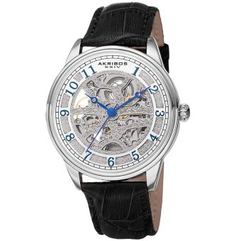 Đồng hồ nam dây da thật Akribos XXIV AK807SS (Đen)