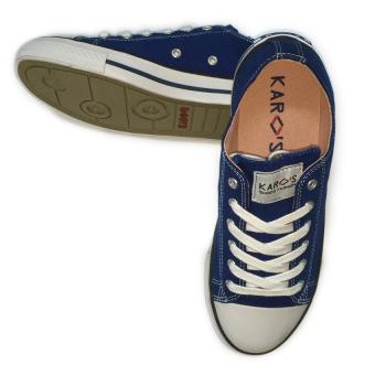 Giày sneaker nữ cổ thấp CODAD CANVAS KARO (Xanh dương)