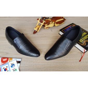 Giày tăng chiều cao nam S 970 đen sần cao 8CM