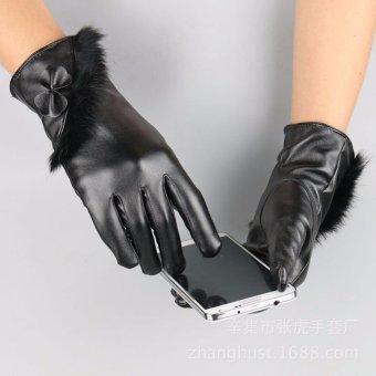 Găng tay da đệm lông cảm ứng