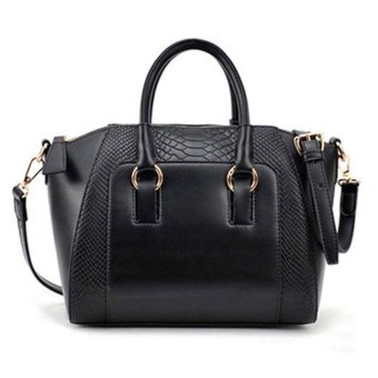 Women Hobo Shoulder Bag Pu Leather Satchel Cross Body Tote Handbag - intl