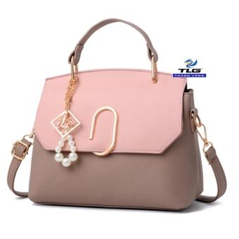 Túi đeo chéo thời trang Messenger phong cách Thành Long TL8154 3(ghi phối hồng)