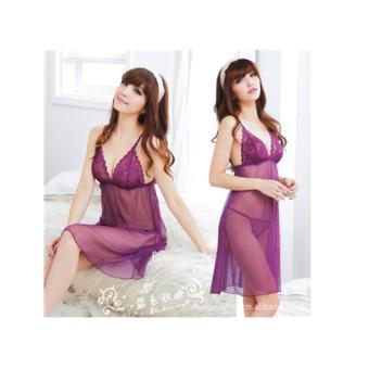 Đầm ngủ quyến rũ violet lai dài CDAN14 Kim Phát (tím)