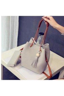 Bộ túi và ví nút tròn cao cấp