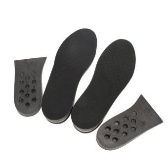 Men Women Full Length Hight Increase Insoles Shoes Insert Pads Cushion (Black) - intl
