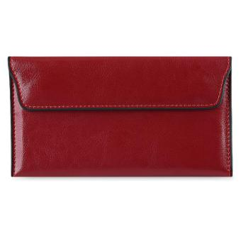 Vintage Style Hasp Closure Envelope Design Wallet with Mini Bag for Ladies - intl